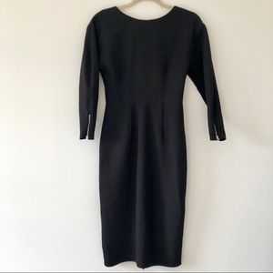 ASOS bodycon dress size 2 long sleeves, black.